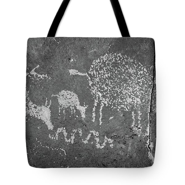 Tote Bag featuring the photograph New Mexico Petroglyph by Jeff Phillippi