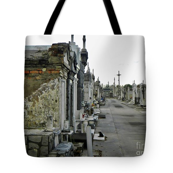 Tote Bag featuring the photograph New Orleans Cemetery by Rosanne Licciardi