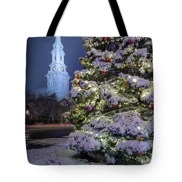 New Snow For Christmas Tote Bag