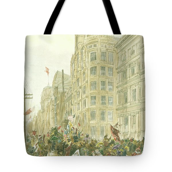 New Years Mummers On Chestnut Street Tote Bag