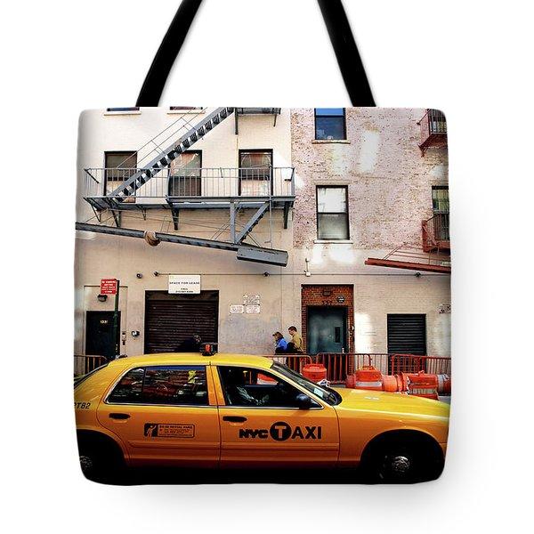 New York, Cab Tote Bag