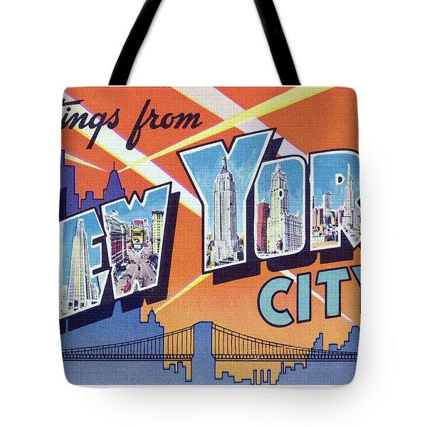 New York City Greetings - Version 2 Tote Bag