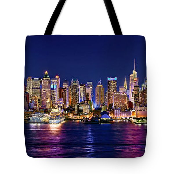 New York City Nyc Midtown Manhattan At Night Tote Bag