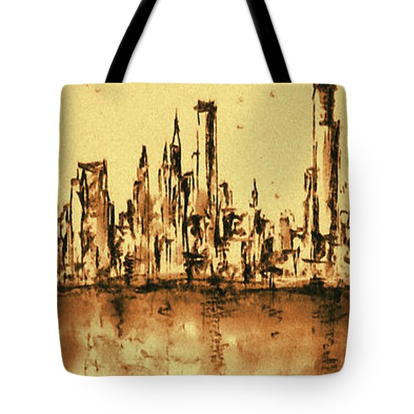 New York City Skyline 79 - Water Color Drawing Tote Bag
