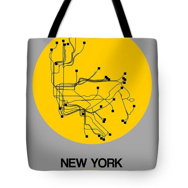 New York Yellow Subway Map Tote Bag