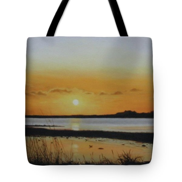 Tote Bag featuring the painting Newfoundland Sunset by Tammy Taylor