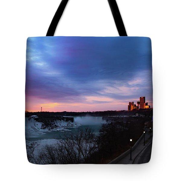Niagara Falls At Sunrise Tote Bag