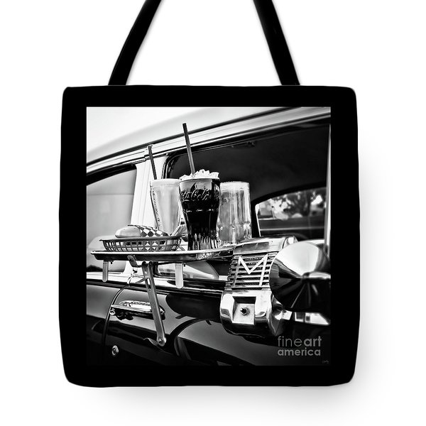 Night At The Drive-in Movies Tote Bag