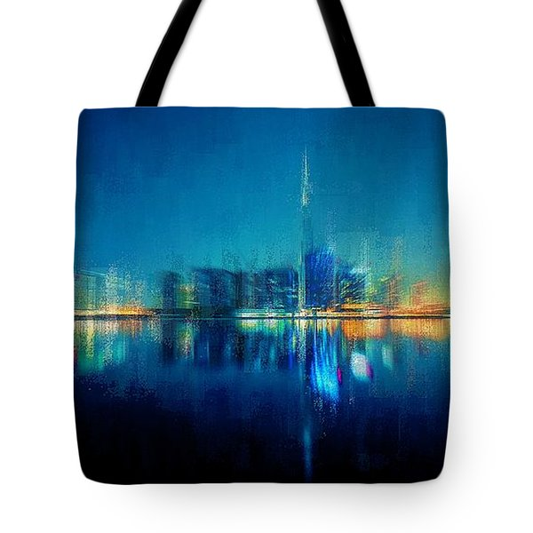 Tote Bag featuring the digital art Night Of The City by David Manlove