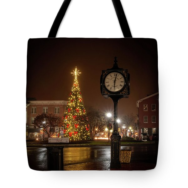 Night On The Square Tote Bag