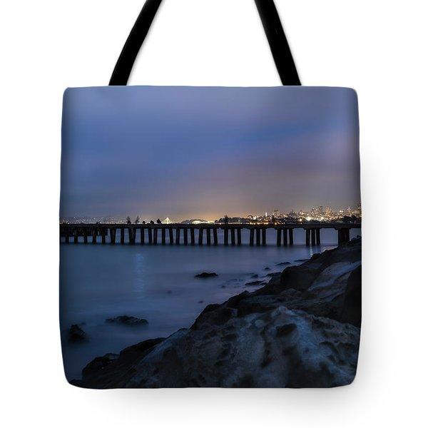 Night Pier- Tote Bag