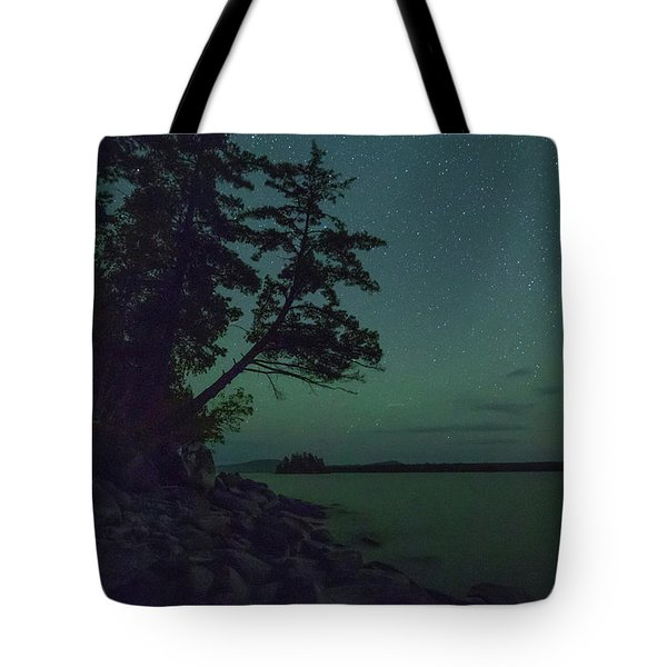 Night Sky On Moosehead Lake Tote Bag