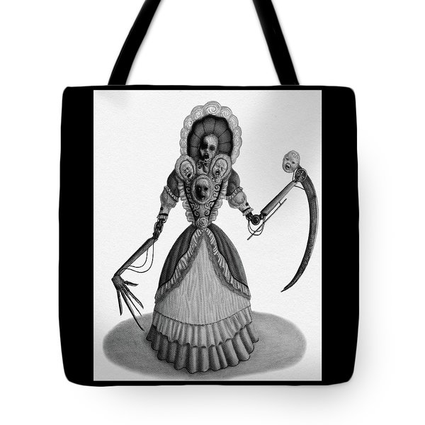 Tote Bag featuring the drawing Nightmare Dolly - Artwork by Ryan Nieves