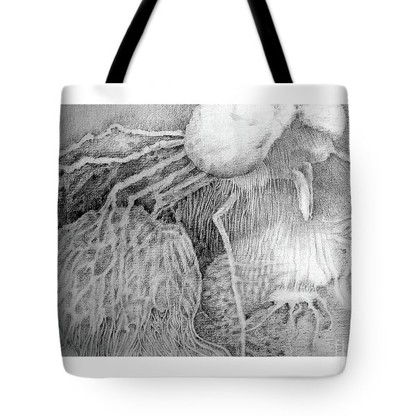 Tote Bag featuring the drawing Nightmare by Rosanne Licciardi