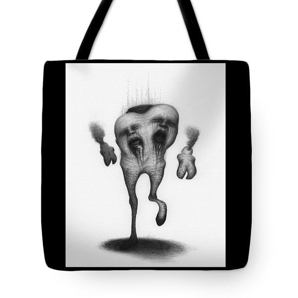 Tote Bag featuring the drawing Nightmare Strider - Artwork by Ryan Nieves