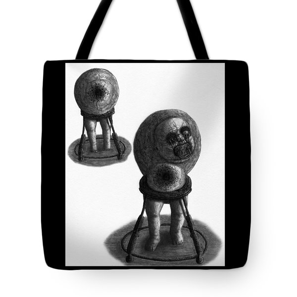Tote Bag featuring the drawing Nightmare Walker - Artwork by Ryan Nieves