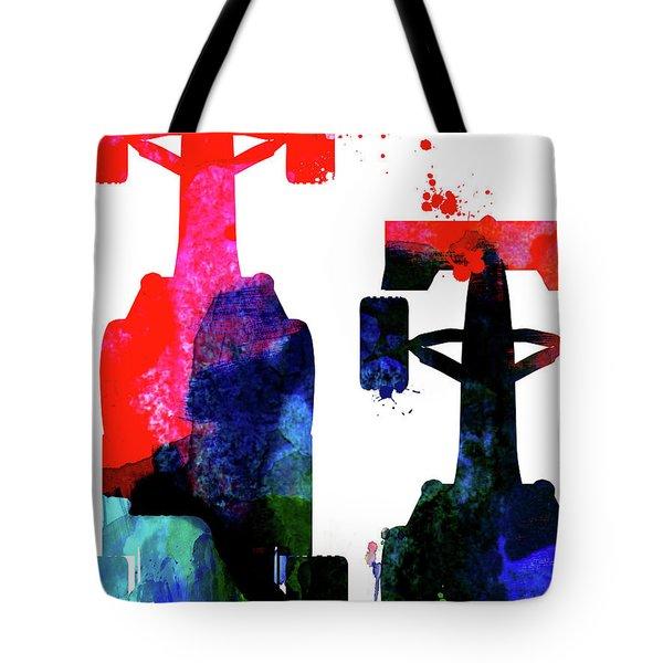 Niki Lauda Watercolor Tote Bag