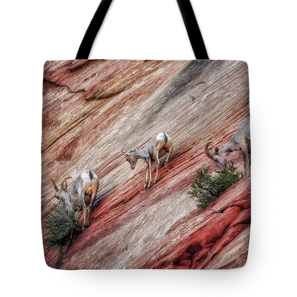 Nimble Mountain Goats 5694 Tote Bag