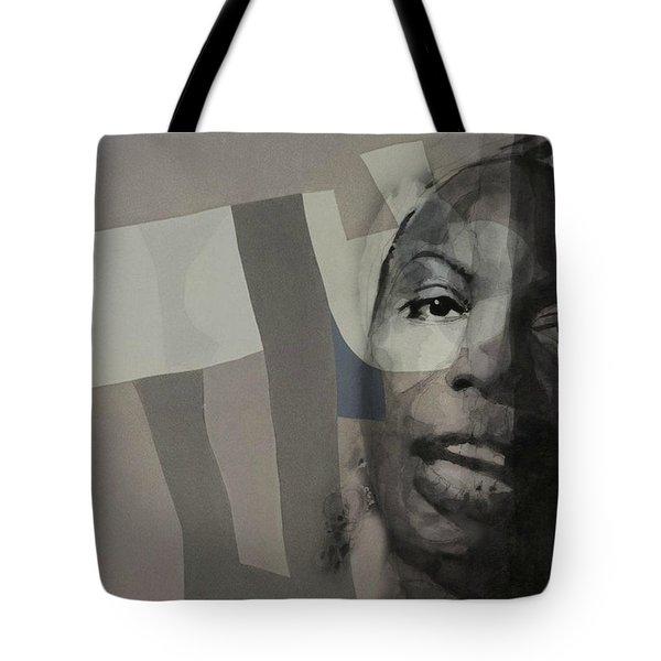 Nina Simone _ Retro Tote Bag