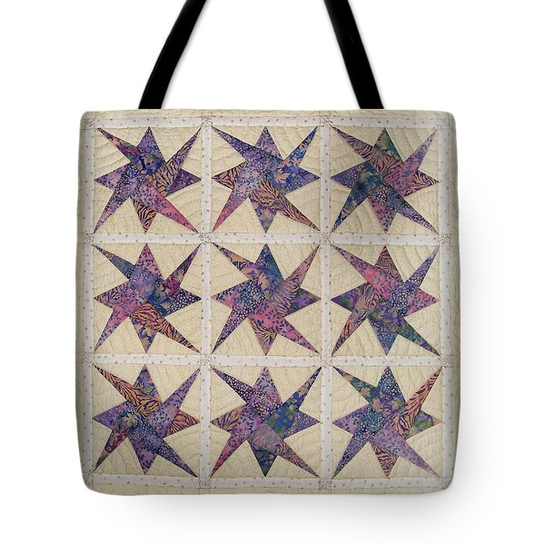 Nine Stars Dipping Their Toes In The Sea Sending Ripples To The Shore Tote Bag
