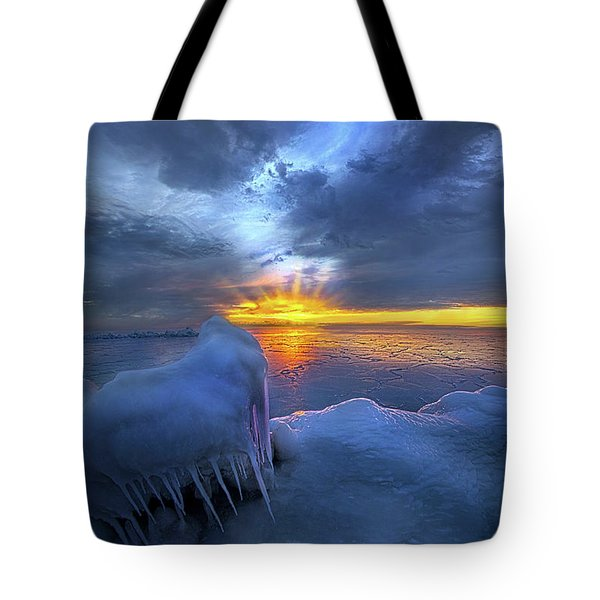 Tote Bag featuring the photograph No Winter Skips Its Turn. by Phil Koch