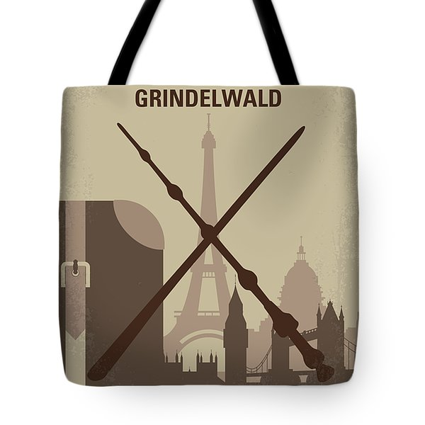 No1042 My The Crimes Of Grindelwald Minimal Movie Poster Tote Bag
