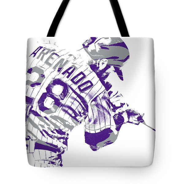 Nolan Arenado Colorado Rockies Pixel Art 20 Tote Bag