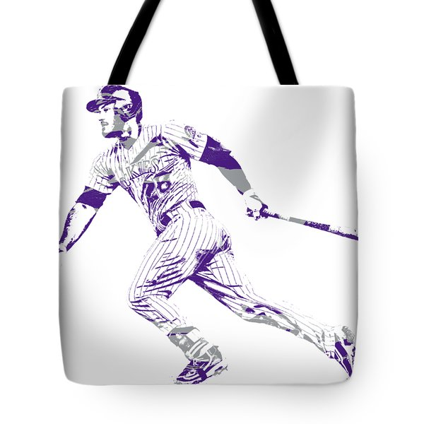 Nolan Arenado Colorado Rockies Pixel Art  Tote Bag