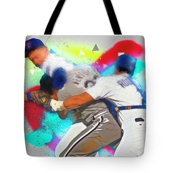 Nolan Ryan, Robin Ventura Brawl Tote Bag