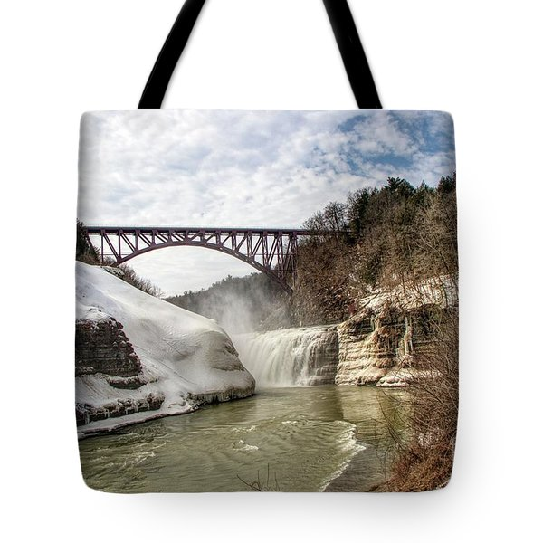 Winter At Letchworth State Park Tote Bag