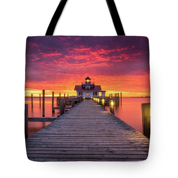 North Carolina Outer Banks Manteo Lighthouse Obx Nc Tote Bag