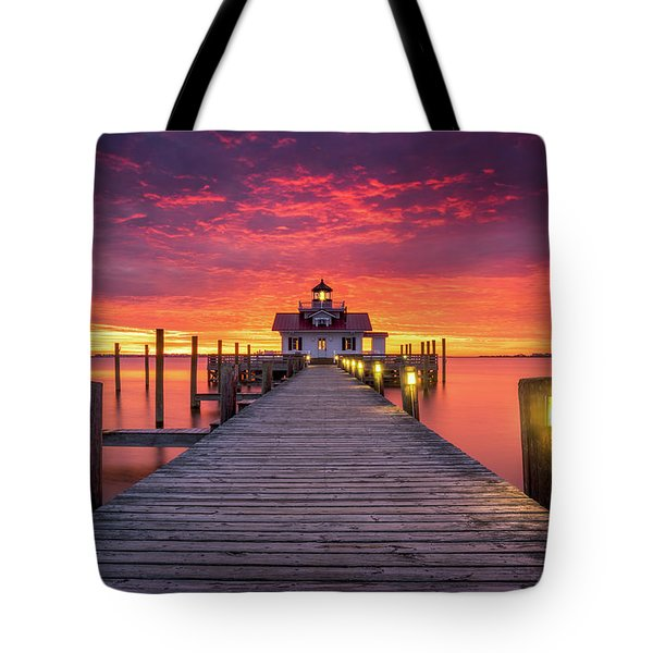 North Carolina Outer Banks Manteo Lighthouse Obx Nc Tote Bag
