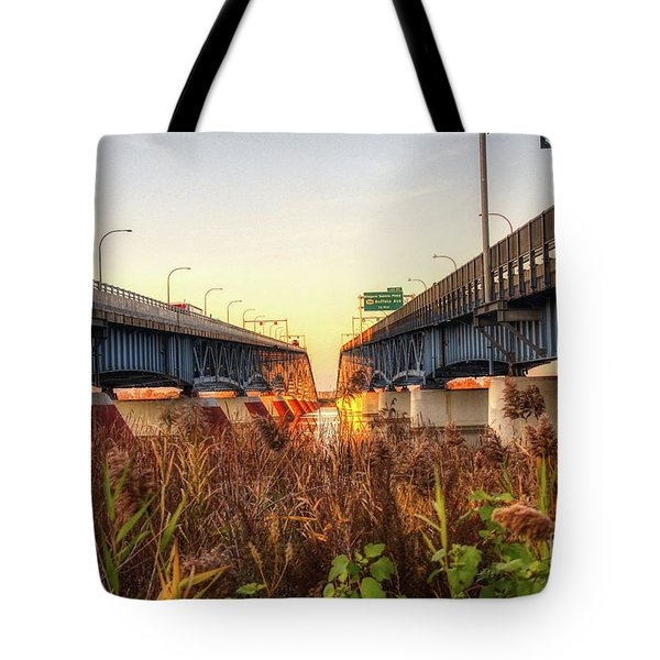 North Grand Island Bridges Tote Bag