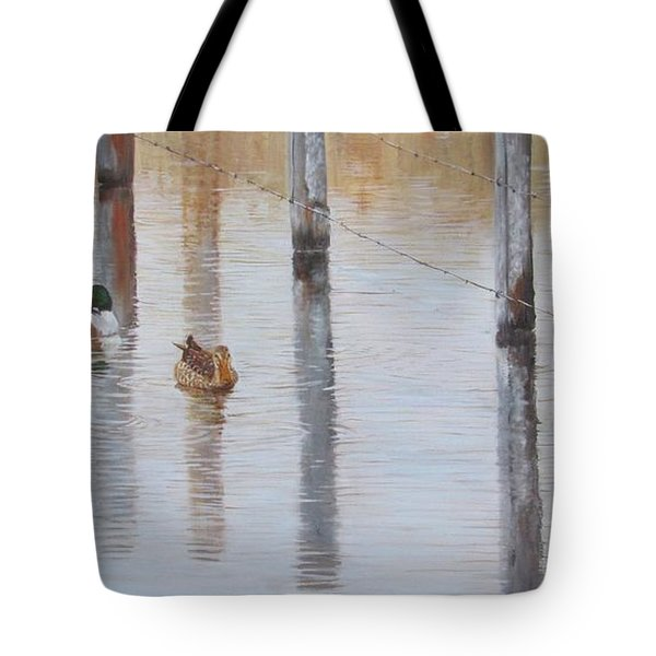Tote Bag featuring the painting Northern Shovellers by Tammy Taylor
