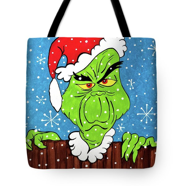 Nosey Grinch Tote Bag