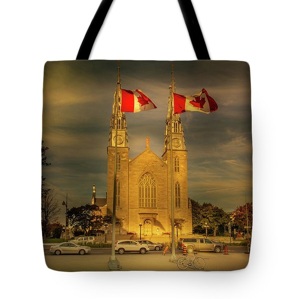 Tote Bag featuring the photograph Notre Dame Basilica by Juan Contreras