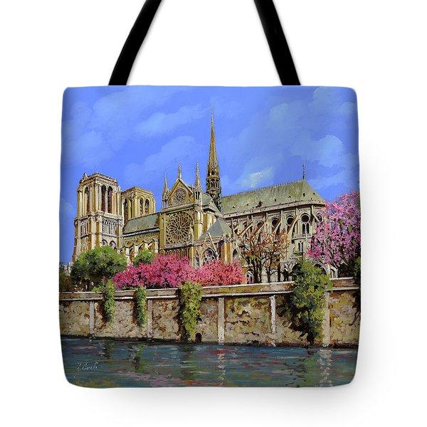 Notre Dame In Primavera Tote Bag