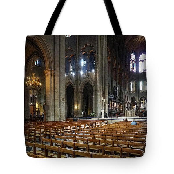 Tote Bag featuring the photograph Notre-dame by Jim Mathis