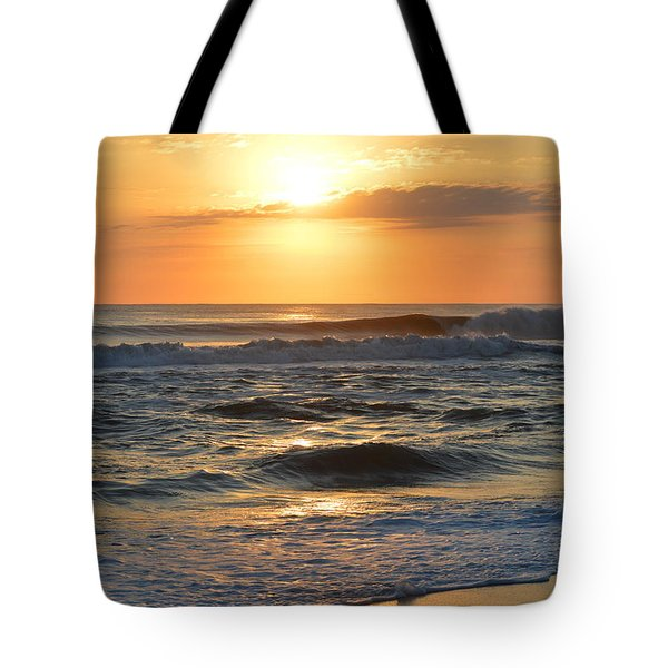 Tote Bag featuring the photograph November 3, 2018 Sunrise by Barbara Ann Bell