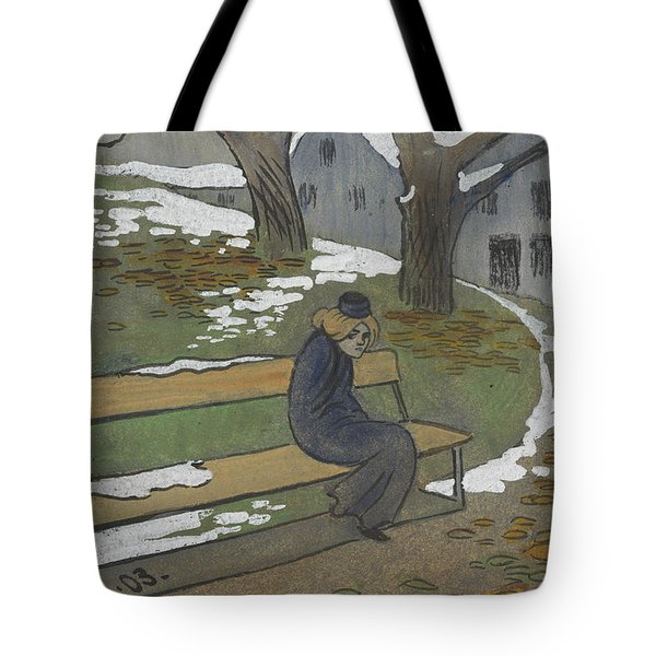 Tote Bag featuring the drawing November by Ivar Arosenius