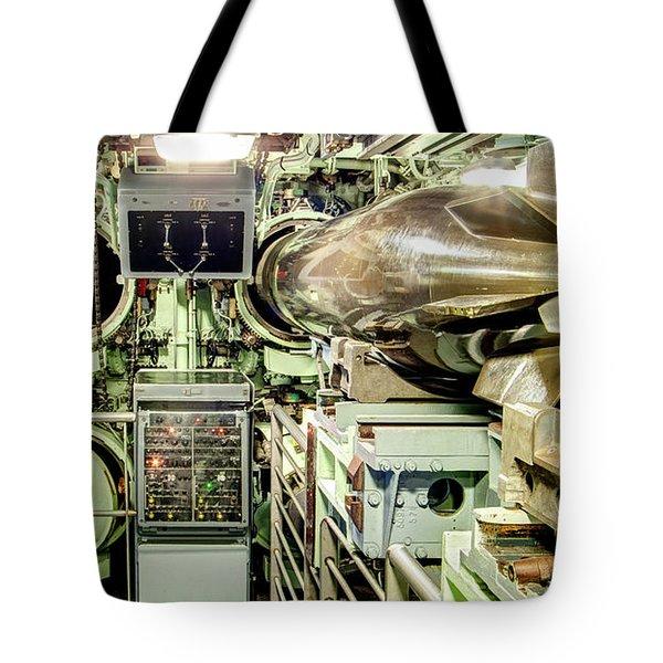 Nuclear Submarine Torpedo Room Tote Bag