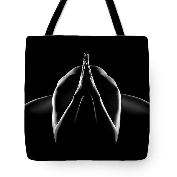 Nude Woman Bodyscape 28 Tote Bag