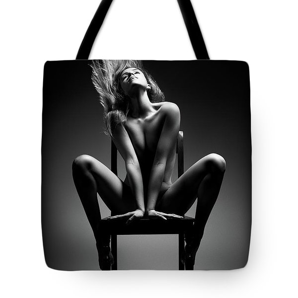Nude Woman Sitting On Chair Tote Bag