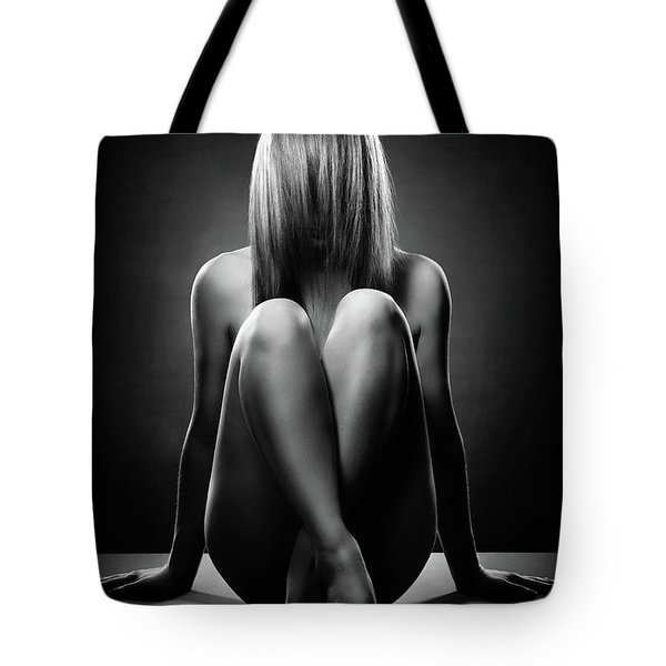 Nude Woman With Hidden Face Tote Bag
