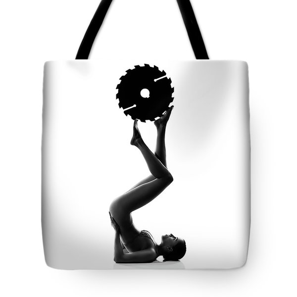 Nude Woman With Saw Blade 2 Tote Bag