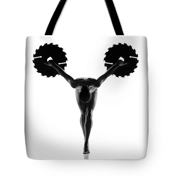 Nude Woman With Saw Blade 5 Tote Bag