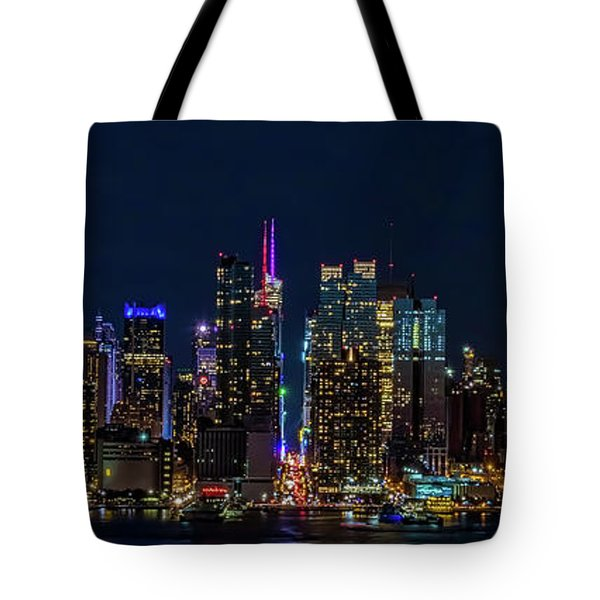 Tote Bag featuring the photograph Nyc At Night by Francisco Gomez