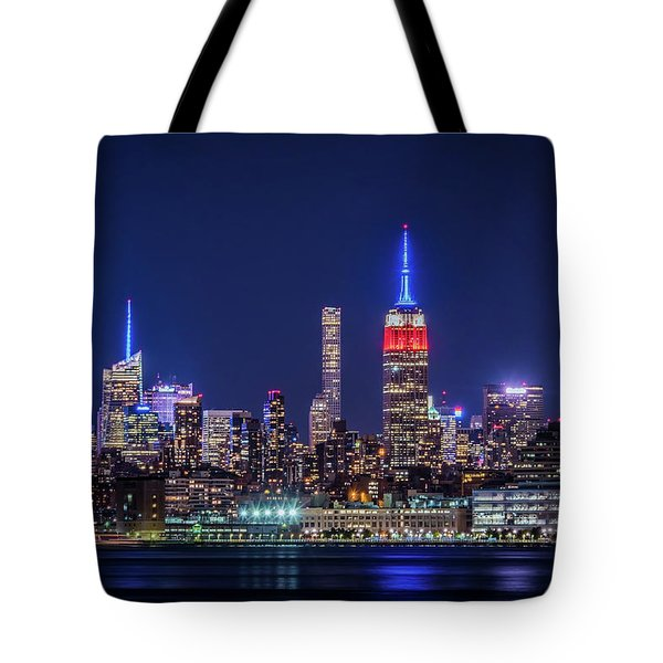 Nyc At The Blue Hour Tote Bag