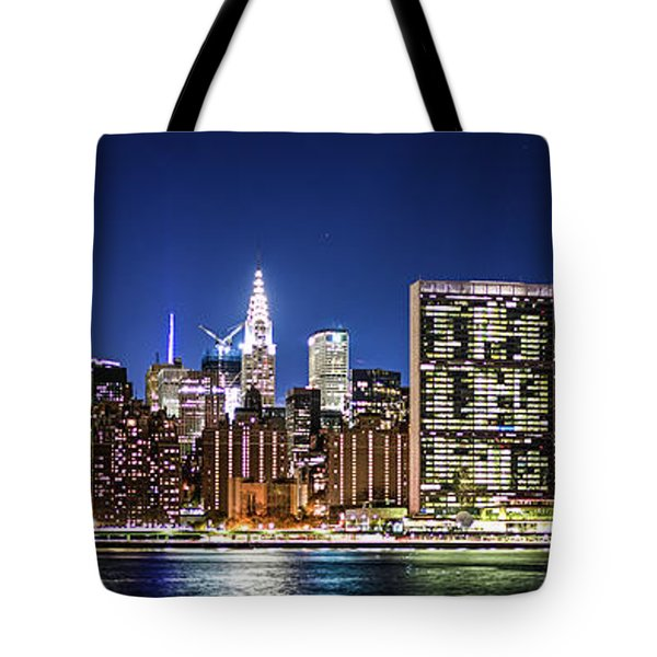 Tote Bag featuring the photograph Nyc Nightshine by Theodore Jones