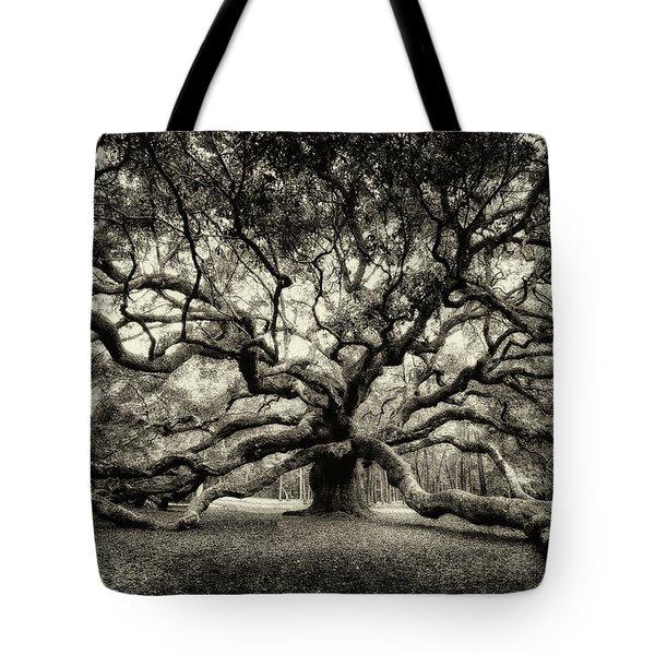 Oak Of The Angels - Sepia Tote Bag